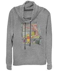 Women's Winnie the Pooh Winnie Window Fleece Cowl Neck Sweatshirt