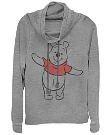 Women's Winnie the Pooh Basic Sketch Pooh Fleece Cowl Neck Sweatshirt