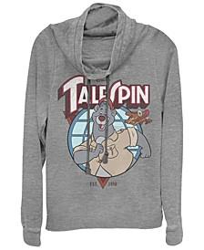Women's TaleSpin Baloo Badge Fleece Cowl Neck Sweatshirt