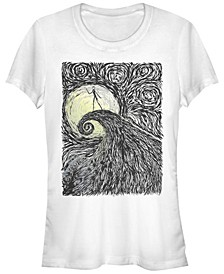 Women's Nightmare Before Christmas Spiral Hill Short Sleeve T-shirt