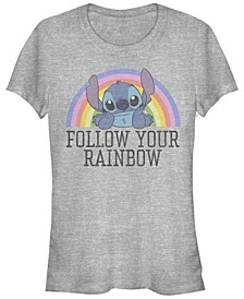 Women's Disney Stitch Rainbow Short Sleeve T-shirt