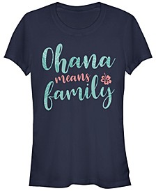 Women's Disney Lilo Stitch Ohana Script Short Sleeve T-shirt