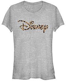Women's Disney Logo Disney Logo Leopard Short Sleeve T-shirt