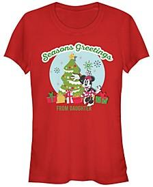 Women's Disney Mickey Classic Greetings Daughter Short Sleeve T-shirt