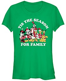 Women's Disney Mickey Classic Family Season Short Sleeve T-shirt