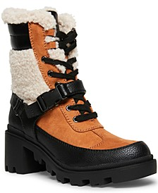 Doreen Faux-Fur Lug Sole Hiker Booteis