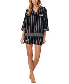 Striped Shorts Pajama Set