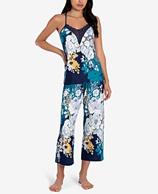 Lace-Trim Cami & Capri Pants Pajama Set