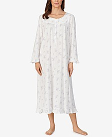 Long Cotton Knit Nightgown