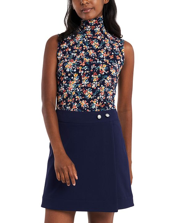 Riley & Rae Harper Floral Turtleneck Top, Created for Macy's