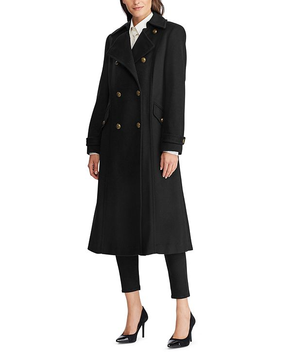 Lauren Ralph Lauren Double-Breasted Wool-Blend Coat