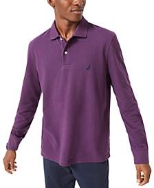 Men's Long-Sleeve Cotton Polo