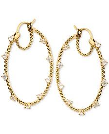 Stone Embellished Hoop Earrings, Created for Macy's