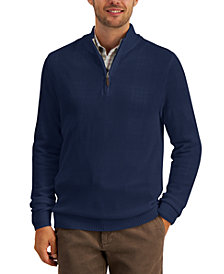 Club Room Men's Quarter-Zip Cotton Sweater, Created for Macy's