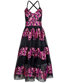 Embroidered-Floral Dress