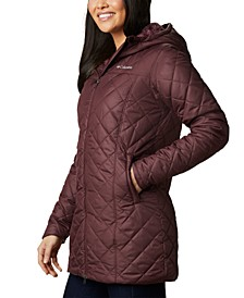 Women's Copper Crest Hooded Fleece-Lined Mid-Length Coat