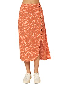Juniors' Dolina Printed Asymmetrical Skirt