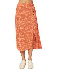 Juniors' Dolina Printed Asymmetrical Skirt