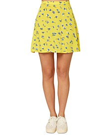 Juniors' Sindra Floral-Print Skirt