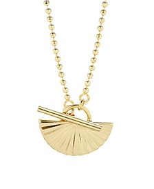 14K Gold Plated Celeste Half Toggle Necklace