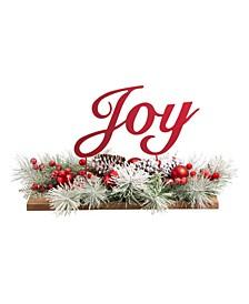 "Christmas Metal ""Joy"" Floral Centerpiece"