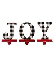 Joy Christmas Stocking Holder, Set of 3