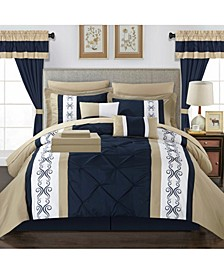 Icaria 20 Piece Queen Bed In a Bag Comforter Set