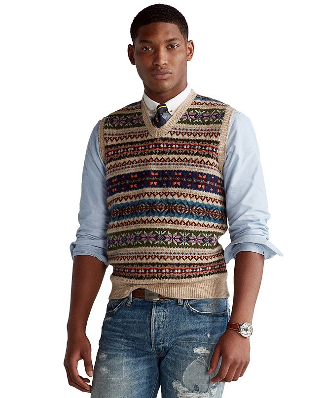 Polo Ralph Lauren Men's Fair Isle Sweater Vest