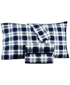 Printed 100% Cotton Flannel Pair of Standard Pillowcases, Created for Macy's