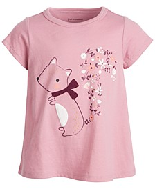 Baby Girls Short Sleeve Squirrel Tee, Created for Macy's