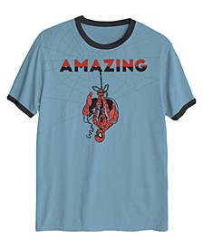 The Amazing Spiderman Upside Down No Bad Vibes Big Boys T-shirt