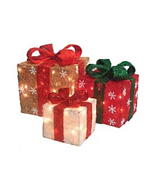 Lighted Gi Boxes Christmas Outdoor Decorations