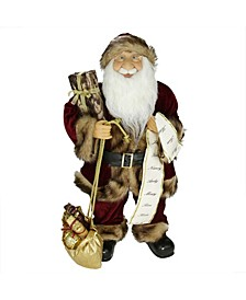 Woodland Standing Santa Claus Christmas Figure with Name List