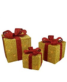 Gi Boxes with Bows Lighted Christmas Outdoor Decorations