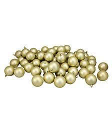 60 Count Shatterproof Matte Christmas Ball Ornaments