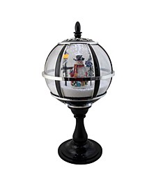 Lighted Musical Snowing Snowman Christmas Table Top Street Lamp