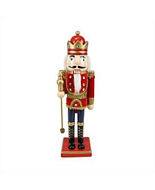 Traditional Christmas Nutcracker King with Sceptre