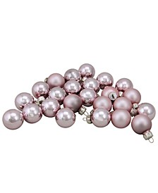 24 Count 2-Finish Glass Christmas Ball Ornaments