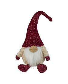 Chubby Smiling Gnome Plush Table top Christmas Figure