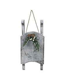 Distressed Finish Christmas Sled Wall Hanging