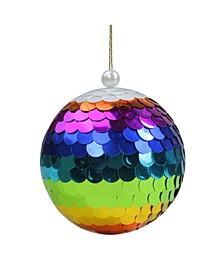 Shiny Sequin Rainbow Hanging Ball Christmas Ornament