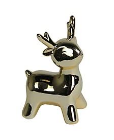 Small Ceramic Christmas Deer Decoration