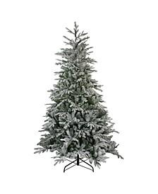 Unlit Flocked Winfield Fir Artificial Christmas Tree