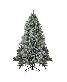 Flocked Winter Park Fir Artificial Christmas Tree-Unlit