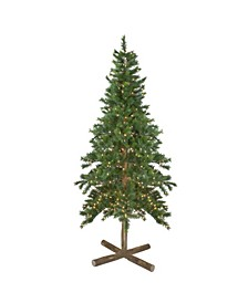 Pre-Lit Slim Royal Alpine Artificial Christmas Tree