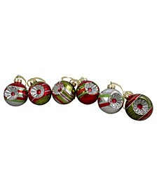 6 Count and 2-Finish Retro Reflector Christmas Ball Ornaments