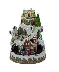 LED Lighted and Animated Christmas Village with Moving Train