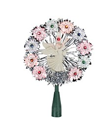 Tinsel Wreath with Angel Christmas Tree Topper