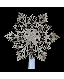 Lighted Battery Operated Snowflake Christmas Tree Topper