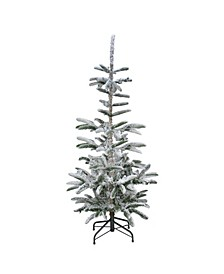 Unlit Slim Flocked Noble Fir Artificial Christmas Tree